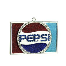 Decorative Plated Pepsi Globe Logo Christmas Ornament with European Crystal