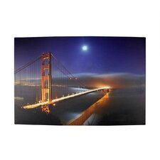 Battery Operated 8 LED Golden Gate Bridge Photographic Print on Canvas