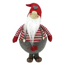 Jolly Standing Gnome in Suspender with Cap