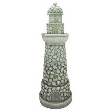 Stone-Inspired Lighthouse Outdoor Patio Garden Statue