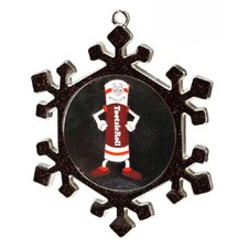 Snowflake Tootsie  Roll Man Candy Logo Christmas Ornament with European Crystal