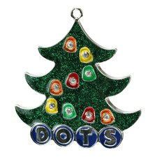 Dot Candy Logo Christmas Tree Ornament with European Crystal