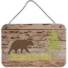 Welcome to the Cabin Aluminum Hanging Painting Print Plaque