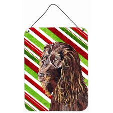 Boykin Spaniel Candy Cane Christmas Aluminum Hanging Painting Print Plaque