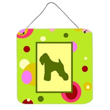 Wheaten Terrier Soft Coated Aluminum Hanging Graphic Art Plaque