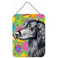 Flat Coated Retriever Easter Eggtravaganza Hanging Painting Print Plaque
