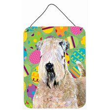 Wheaten Terrier Soft Coated Easter Eggtravaganza Hanging Painting Print Plaque
