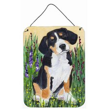 Entlebucher Mountain Dog Aluminum Metal Hanging Painting Print Plaque