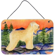 Wheaten Terrier Soft Coated Indoor Aluminum Hanging Painting Print Plaque
