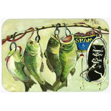 Recession Food Fish Caught with Spam Kitchen/Bath Mat