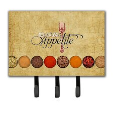 Bon Appetite and Spices Leash Holder and Key Hook
