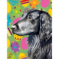 Flat Coated Retriever Easter Eggtravaganza 2-Sided Garden Flag