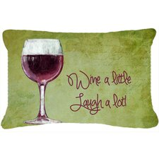 Wine A Little Laugh A Lot Indoor/Outdoor Throw Pillow