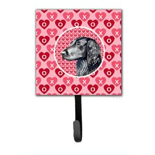 Flat Coated Retriever Valentine's Love and Hearts Leash Holder and Wall Hook
