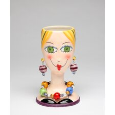 Lady Makeup Brush Holder