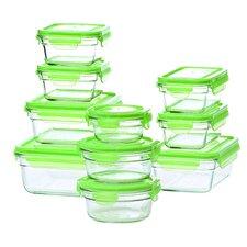 Glasslock 20 Piece Green Lid Storage Container Set