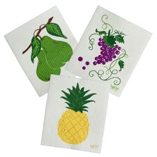 3 Piece Fruit Cleaning Cloth Set