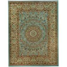 Pasha Maxy Home Medallion Traditional Ocean Blue Area Rug