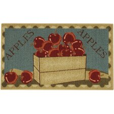 Cucina Apple Basket Red/Green Kitchen Area Rug