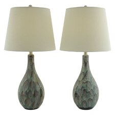 "Theodora 32"" H Table Lamp with Empire Shade (Set of 2)"
