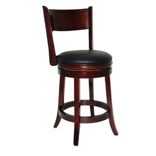 "Richard 24"" Swivel Bar Stool with Cushion"