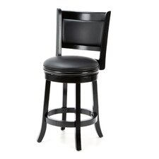 "Chauncey 24"" Swivel Bar Stool with Cushion"