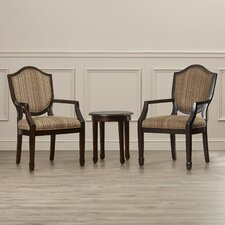 Underhill 3 Piece Cotton Arm Chair and Side Table Set