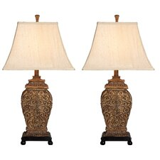 """Fallon 30"""" H Table Lamp with Empire Shade (Set of 2)"""