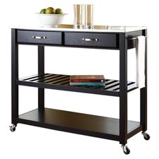 Bernice Kitchen Cart with Stainless Steel Top