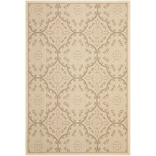Reid Cream & Light Chocolate Area Rug