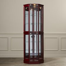 Wallace Floor Standing 5 Sided Corner Curio Cabinet