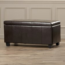 Munday Leather Storage Ottoman