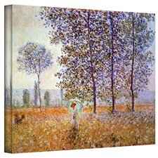 'Poplars' by Claude Monet Painting Print on Wrapped Canvas
