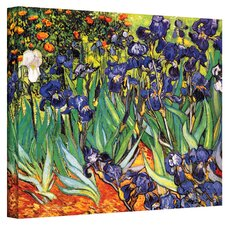 'Irises' by Vincent van Gogh Painting Print on Wrapped Canvas