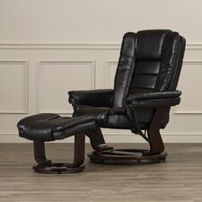 Leather Recliner and Ottoman II