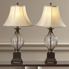 "31"" H Table Lamp with Bell Shade (Set of 2)"