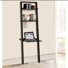"""Haggetts Pond Wall 67.88"""" Leaning Bookcase"""