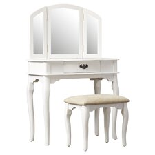 Edgar 3 Piece Vanity Set with Mirror