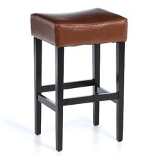 "Estbury Backless 31"" Leather Bar Stool (Set of 2)"