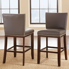 "Tiffany 24"" Bar Stool with Cushion (Set of 2)"