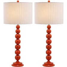 """31"""" H Table Lamp with Drum Shade (Set of 2)"""