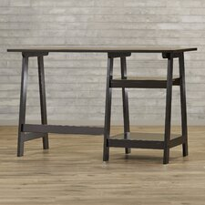 Small Modern Writing Desk with Sawhorse Legs