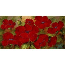 'Poppies' by Rio Painting Print on Wrapped Canvas