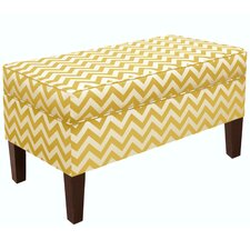 Zig Zag Upholstered Storage Bedroom Bench
