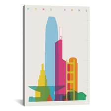 Hong Kong by Yoni Alter Graphic Art on Wrapped Canvas
