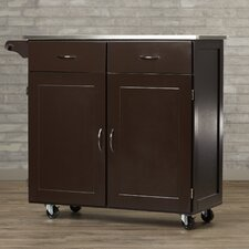 Dayville Kitchen Island with Stainless Steel Top