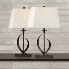 """Galena 25.5"""" H Table Lamp with Shade (Set of 2)"""