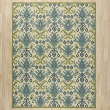 Blair Ivory & Green Area Rug