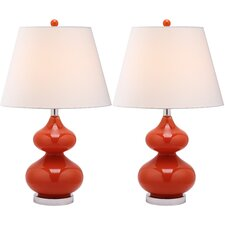 "Courtney 24"" H Table Lamp with Empire Shade (Set of 2)"