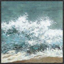 Splash Framed Painting Print on Canvas